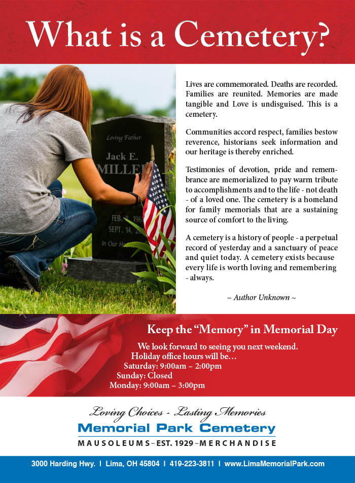 Memorial Park Cemetery Tms Full Page May 2019